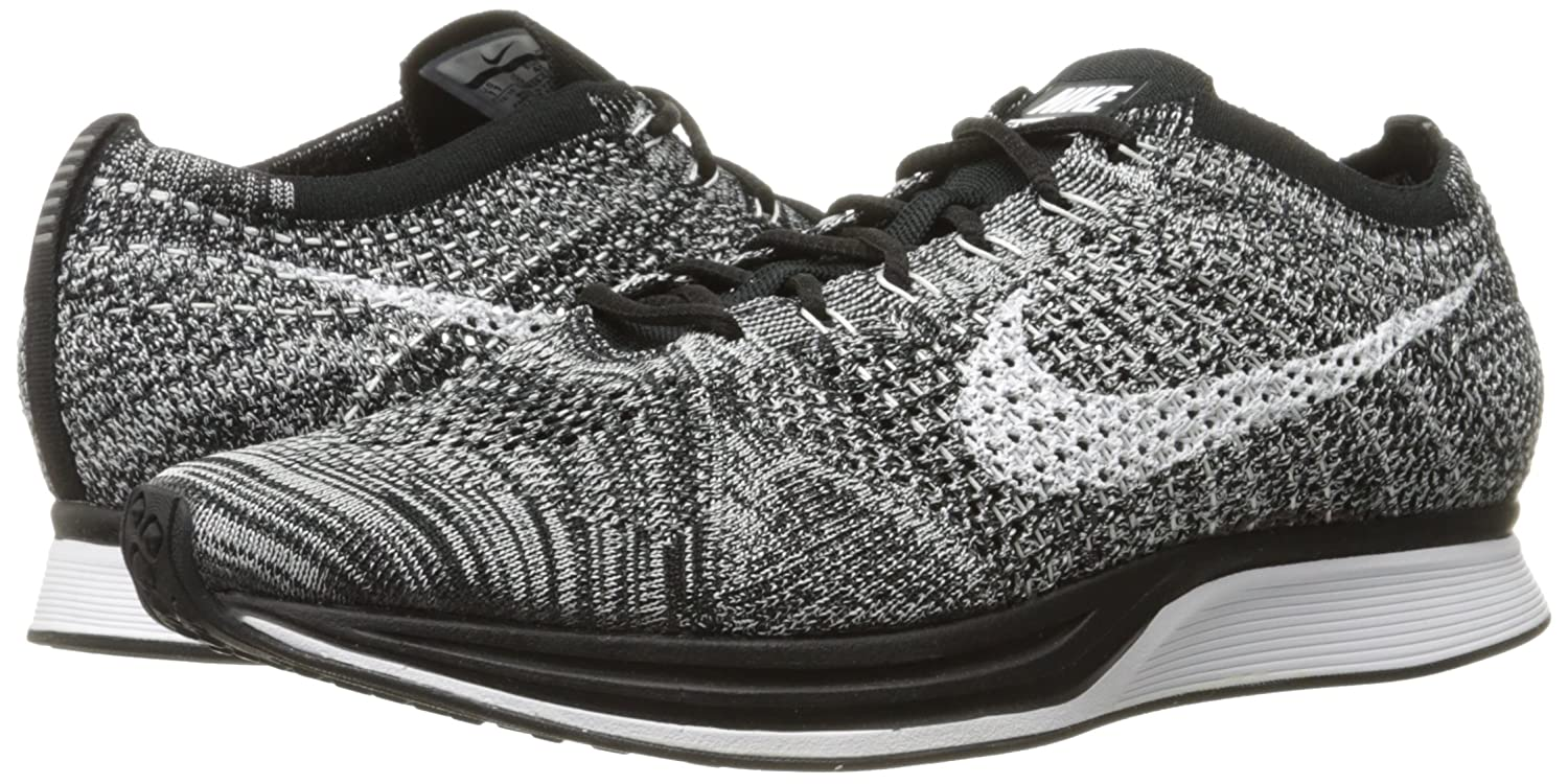 sports shoes a73d9 b3e8b Amazon.com   Nike Flyknit Racer -  Oreo  -526628-012   Road Running