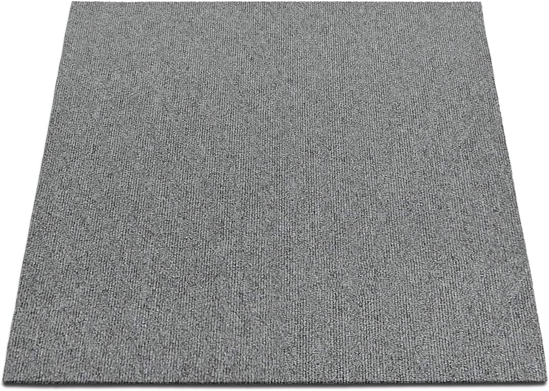 Curry, 4 St/ück 1 m/² Teppichfliesen selbstliegend Lyon f/ür B/üro /& Gewerbe Fliesen Teppiche je 50x50 cm robuster Teppichboden Bodenfliesen mit rutschhemmendem Vinyl-R/ücken