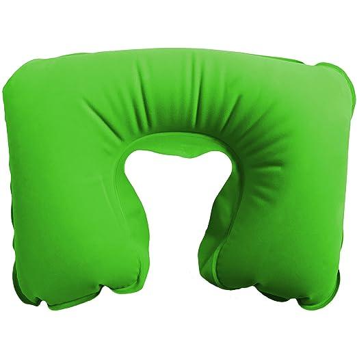 Cojín de viaje - cojín de viaje hinchable - JetRest la verde ...