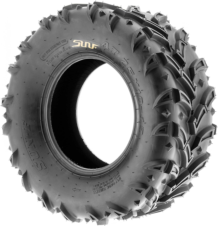 SunF 25x8-12 25x8x12 Tubeless 6 PR 25 ATV UTV Tires A024-1 Set of 4