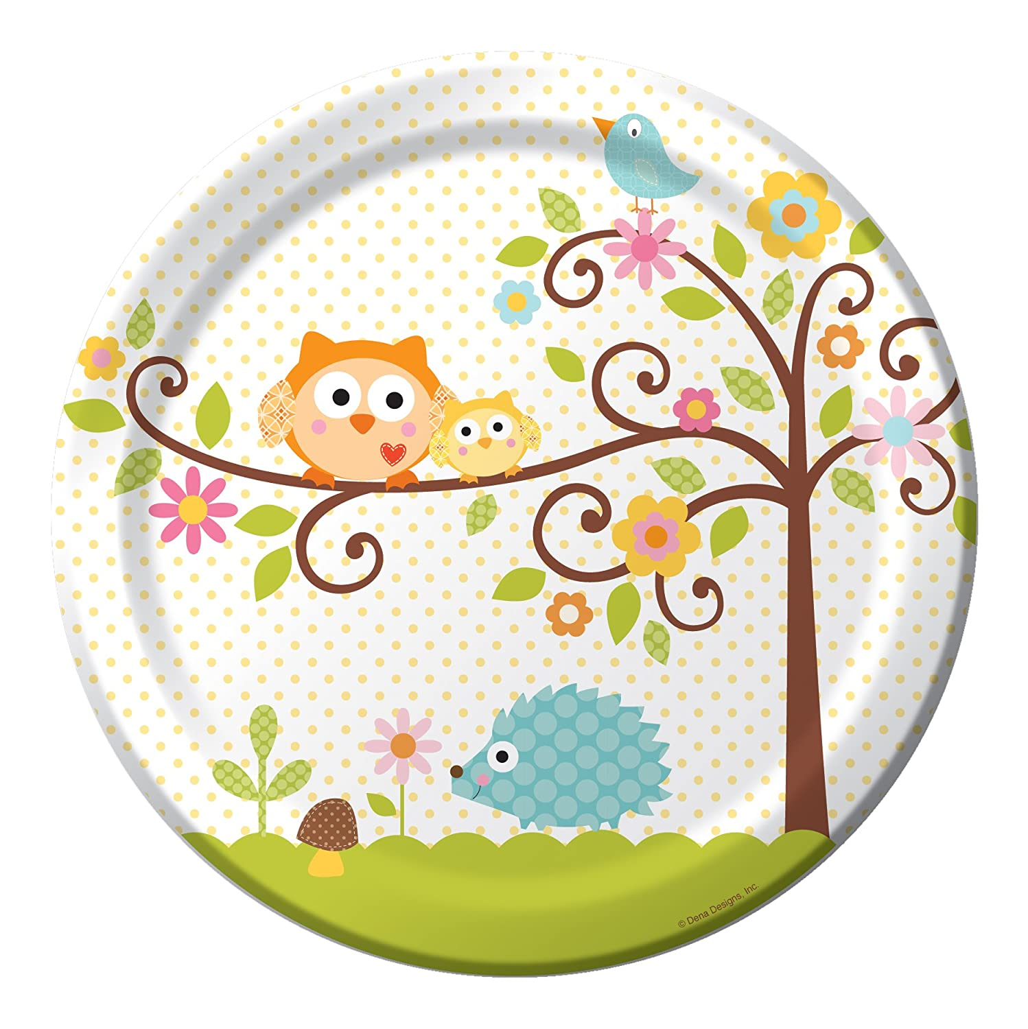 Amazon.com: 8 Count Round Paper Dinner Plates, Happi Tree Sweet Baby: Party  Plates: Kitchen U0026 Dining