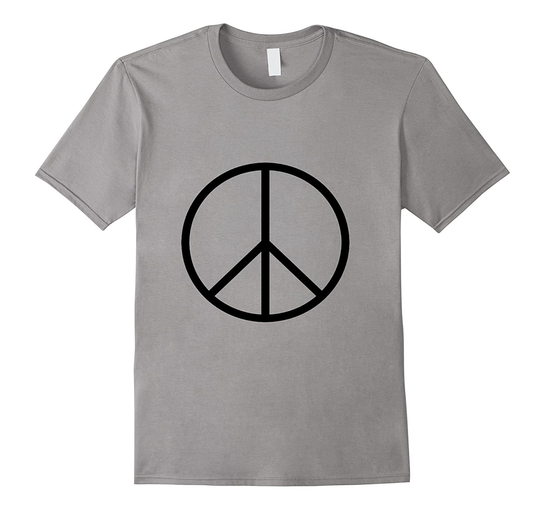 Black Peace Sign Symbol T Shirt Cl Colamaga