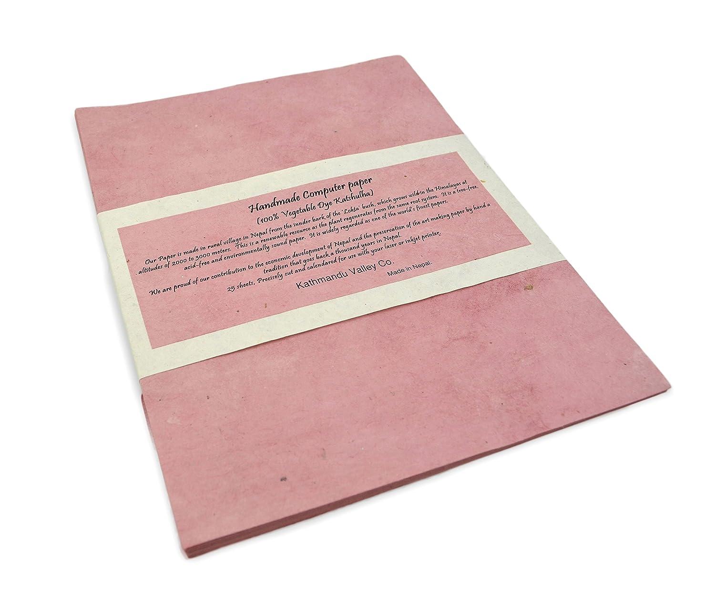 100 Sheets, Natural Handmade Lokta Laser and Inkjet Printer Paper
