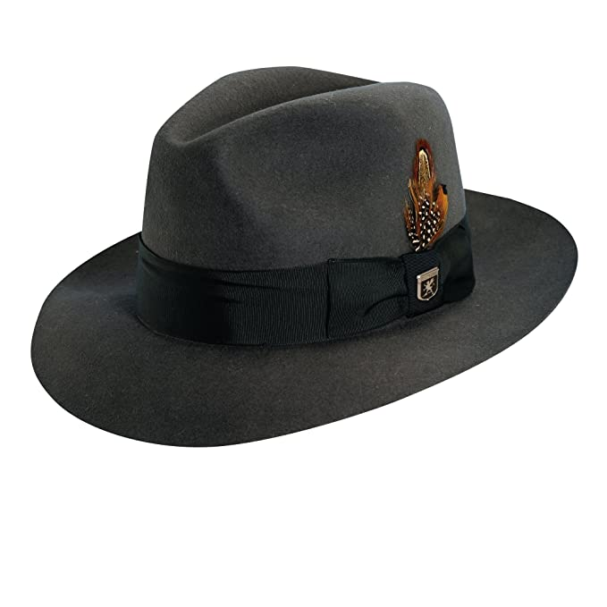 21cdcdf85 Stacy Adams SAW536 Mens Sa Cannery Row Wool Hat Hats, GREY - 4 ...