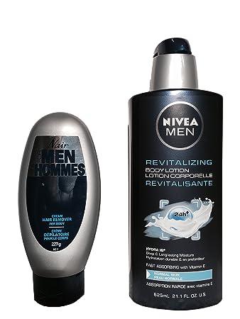 Amazon Com Nair For Men Hair Remover And Nivea Men Express