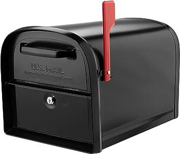 Amazon Com Architectural Mailboxes 6300b 10 Oasis 360 Locking Parcel Mailbox Extra Large Black Home Improvement