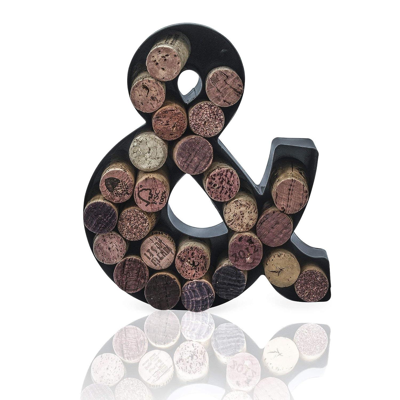 Made Easy Kit Wine Cork Holder Decorative Metal Monogram Letter for Wine Corks Letter B, 7 x 5.5 x 2 Easy Mount kit Included