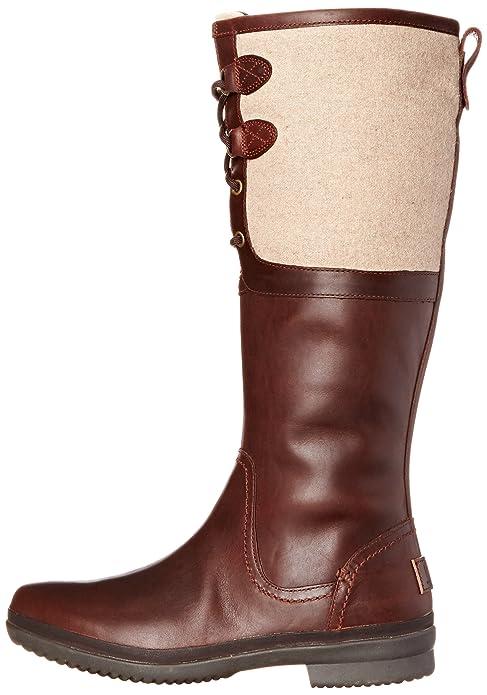8730e9454e5 UGG Women's Elsa Chestnut Knee-High Leather Boot - 9.5M: Ugg: Amazon ...