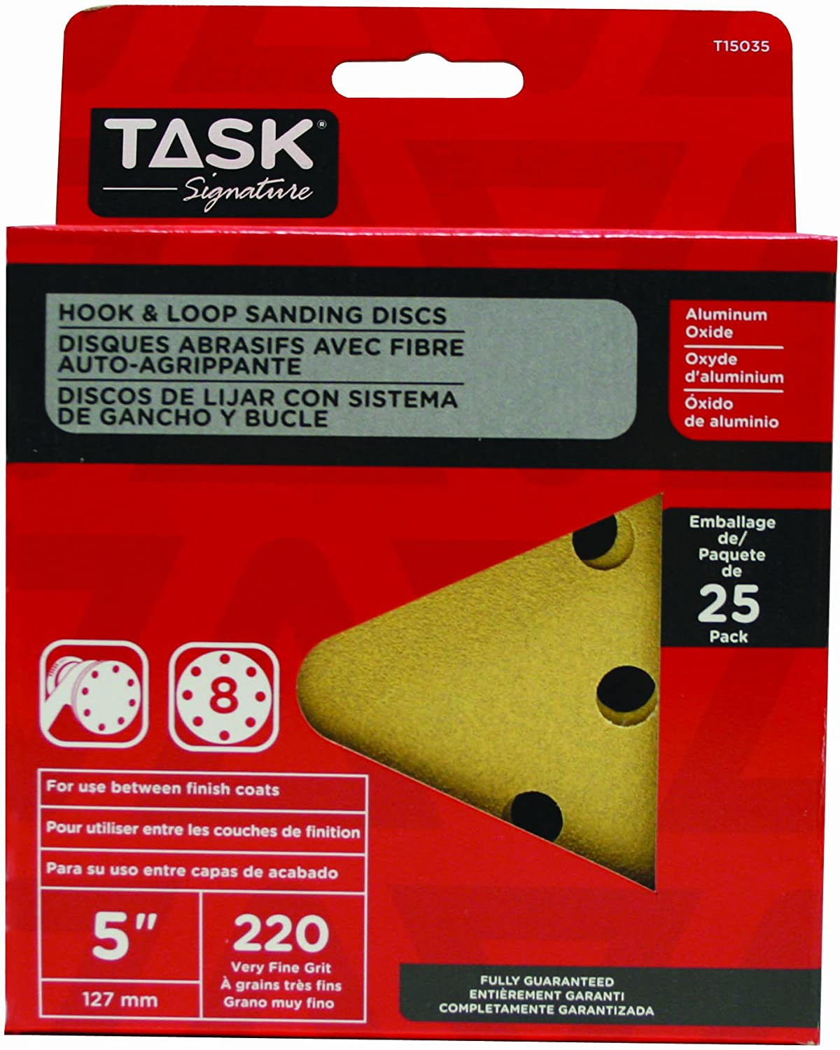 4 Pack Task Tools SHD58120-4 120 Grit Signature Heavy Duty Hook and Loop Sanding Disc Task Tools 5 5 LCM Team