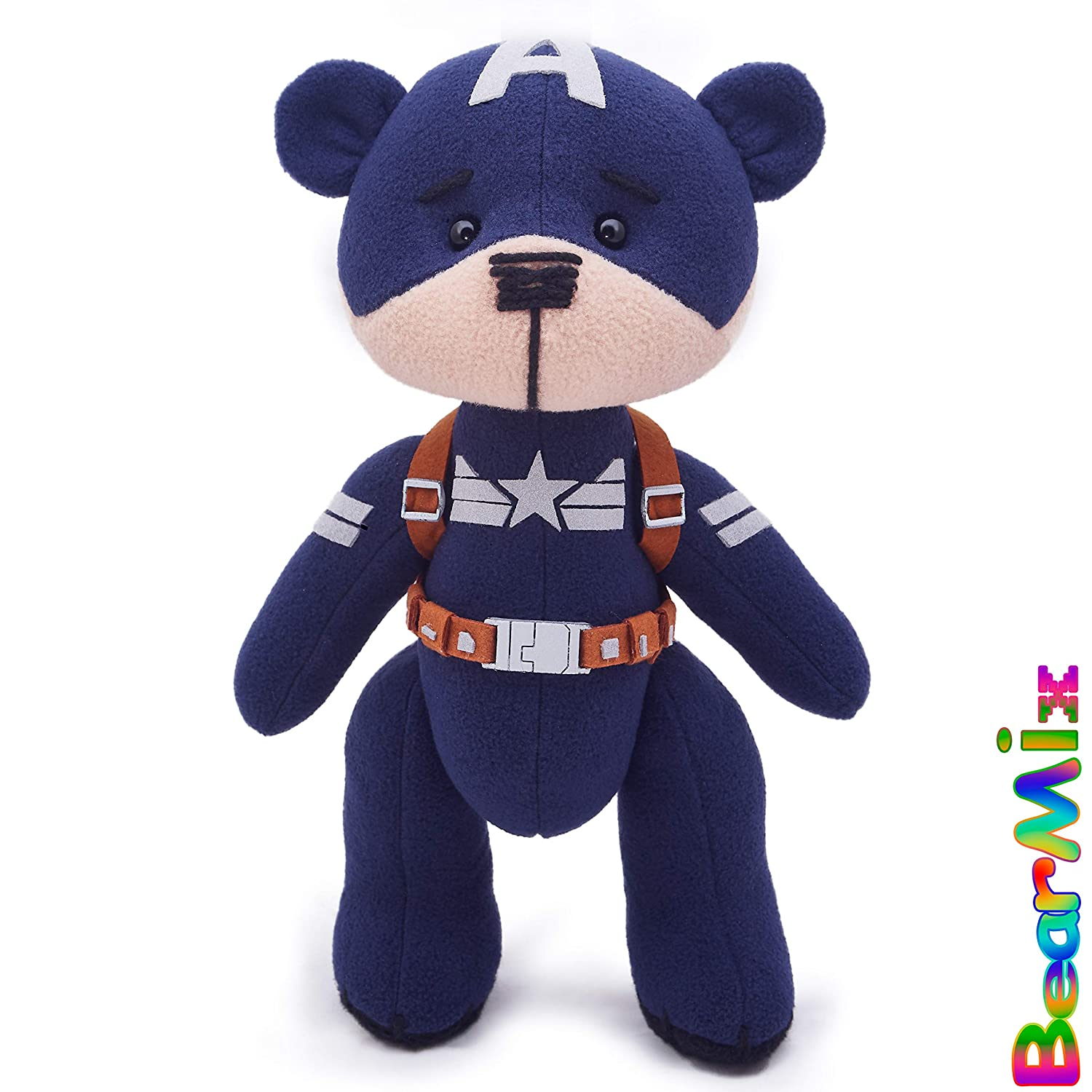 Captain America bear 'Stealth suit' - marvel superhero movie comic plush toy avengers steve rogers