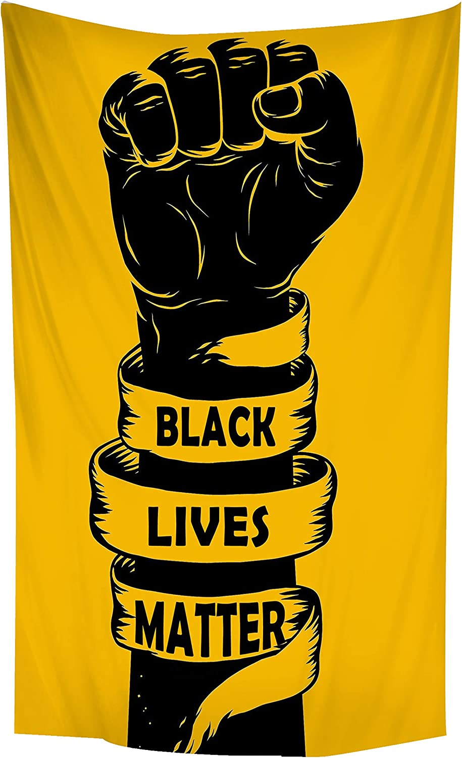 Black Lives Matter Sign Poster-Malcolm X Poster -BLM Sign for Lawn Window Cars-Together We Rise Poster-Civil Rights Poster House Decor 3x5ft (36x60'')