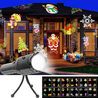 Amazon.com: UNIFUN Linterna LED para proyector, funciona con ...