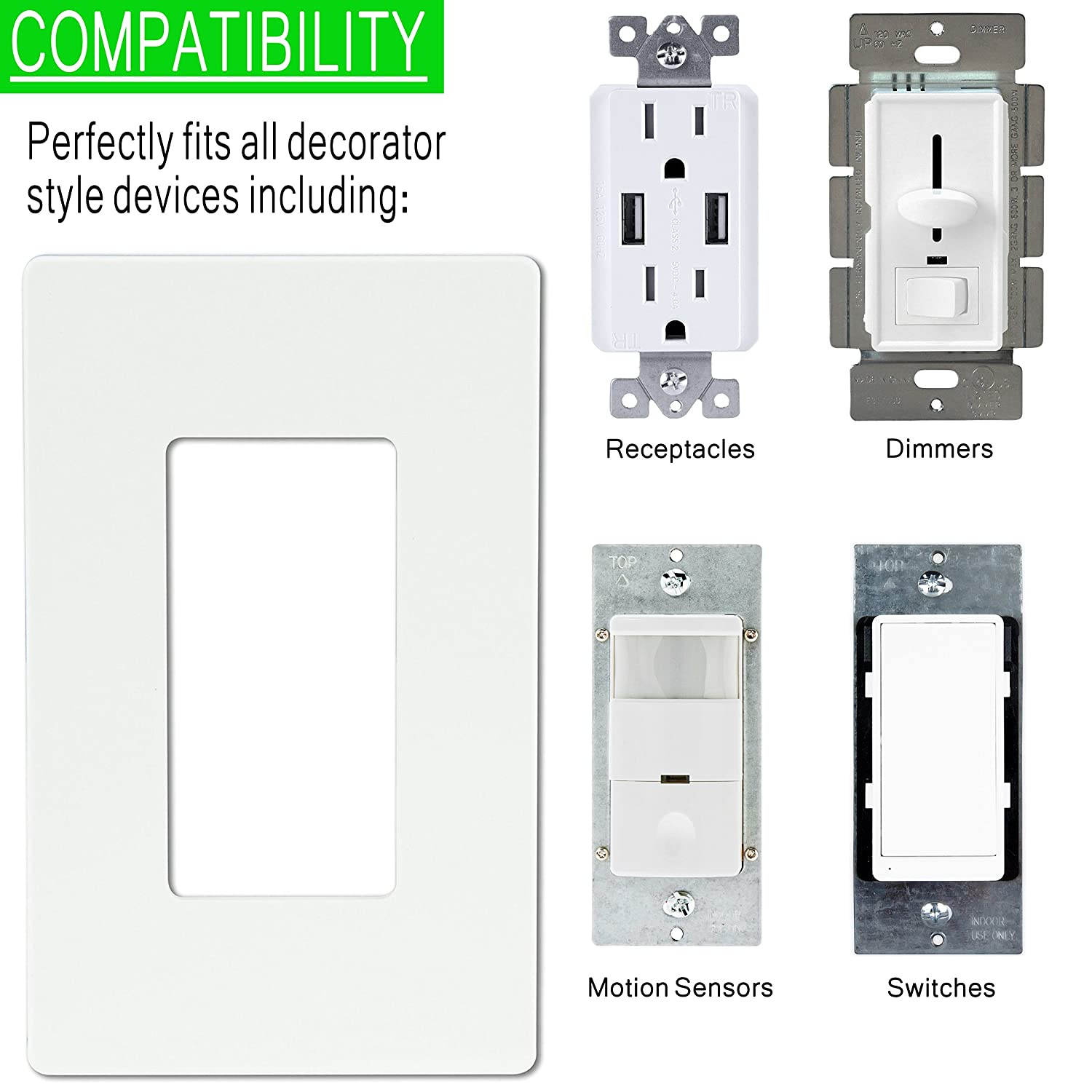 Si8833 screw less decoratorgfci wall plate 3 gang standard size si8833 screw less decoratorgfci wall plate 3 gang standard size child safe cover plate black amazon industrial scientific amipublicfo Image collections