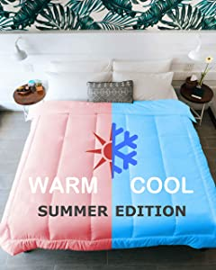 Kömforte Summer Edition - Dual Zone Comforter for Couples - Hypoallergenic, Alternative Down His and Her Duvet Insert -Two Temperature Comforter (White, Summer Queen)
