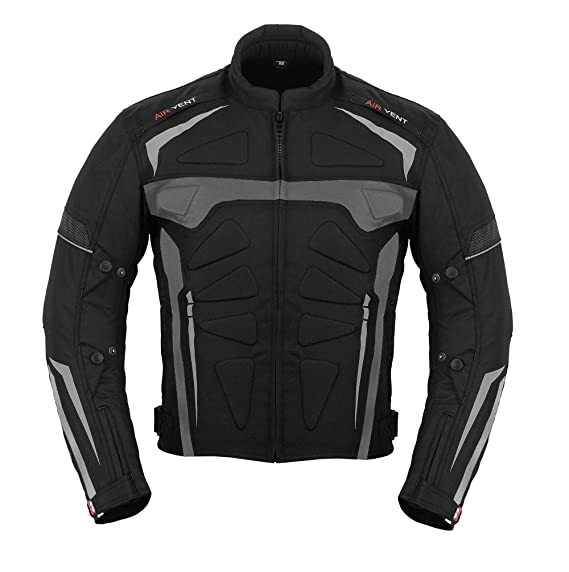 textile motorcycle jacket and trousers 2-piece motorcycle suit Condura black Germanwear size: 44