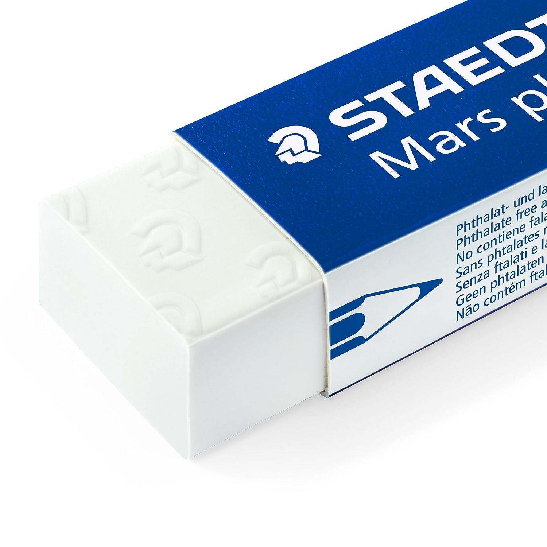 wei/ß Staedtler 526 50 Radierer Mars plastic phtalat und latexfrei Schachtel mit 20 St/ück
