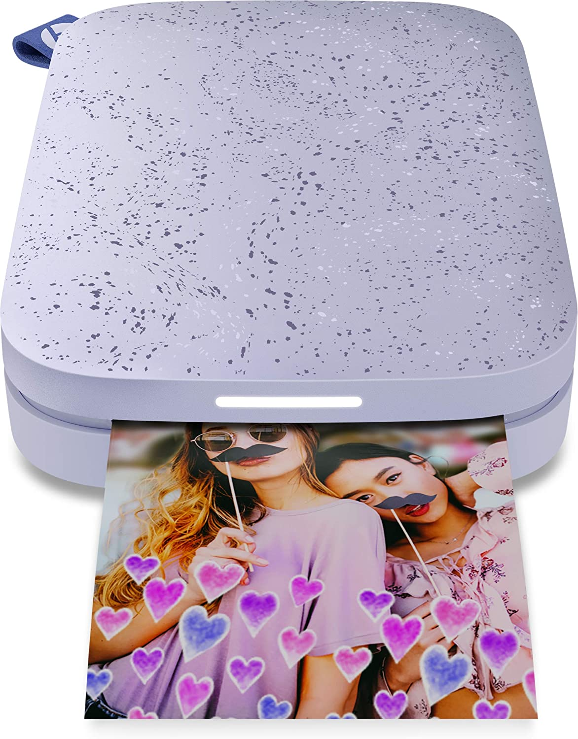 HP - Sprocket 2nd Edition Instant Photo Printer - Lilac (1AS91A)