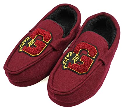 Harry Potter Mens Gryffindor House Slippers Moccasins (S ...