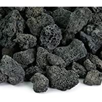 Black 3/4 Inch Lava Rock   Fireproof and Heatproof Volcanic Lava Rock, Perfect for Fire Pits, Fireplaces, BBQs and More. Indoor and Outdoor use - Natural Stones   10 Pounds