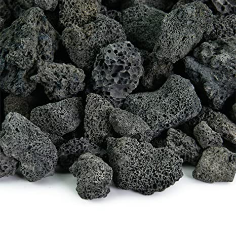 Black 3/4 Inch Lava Rock | Fireproof and Heatproof Volcanic Lava Rock,  Perfect - Amazon.com : Black 3/4 Inch Lava Rock Fireproof And Heatproof