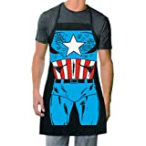 ICUP Marvel - Captain America Be The Hero Character Adult Size 100% Cotton Adjustable Black Apron