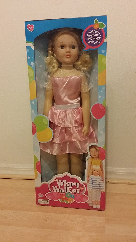 Blue Eyes Pink Party Dress UNEEDA Doll Wispy Walker Blonde Hair