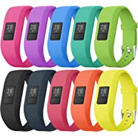 SKYLET Compatible with Garmin Vivofit 3 /JR/JR.2 Bands, Soft Silicone Bands Compatible with Vivofit 3/JR/JR.2 Accessories Bracelet with Secure Watch Buckle Kids Women Men