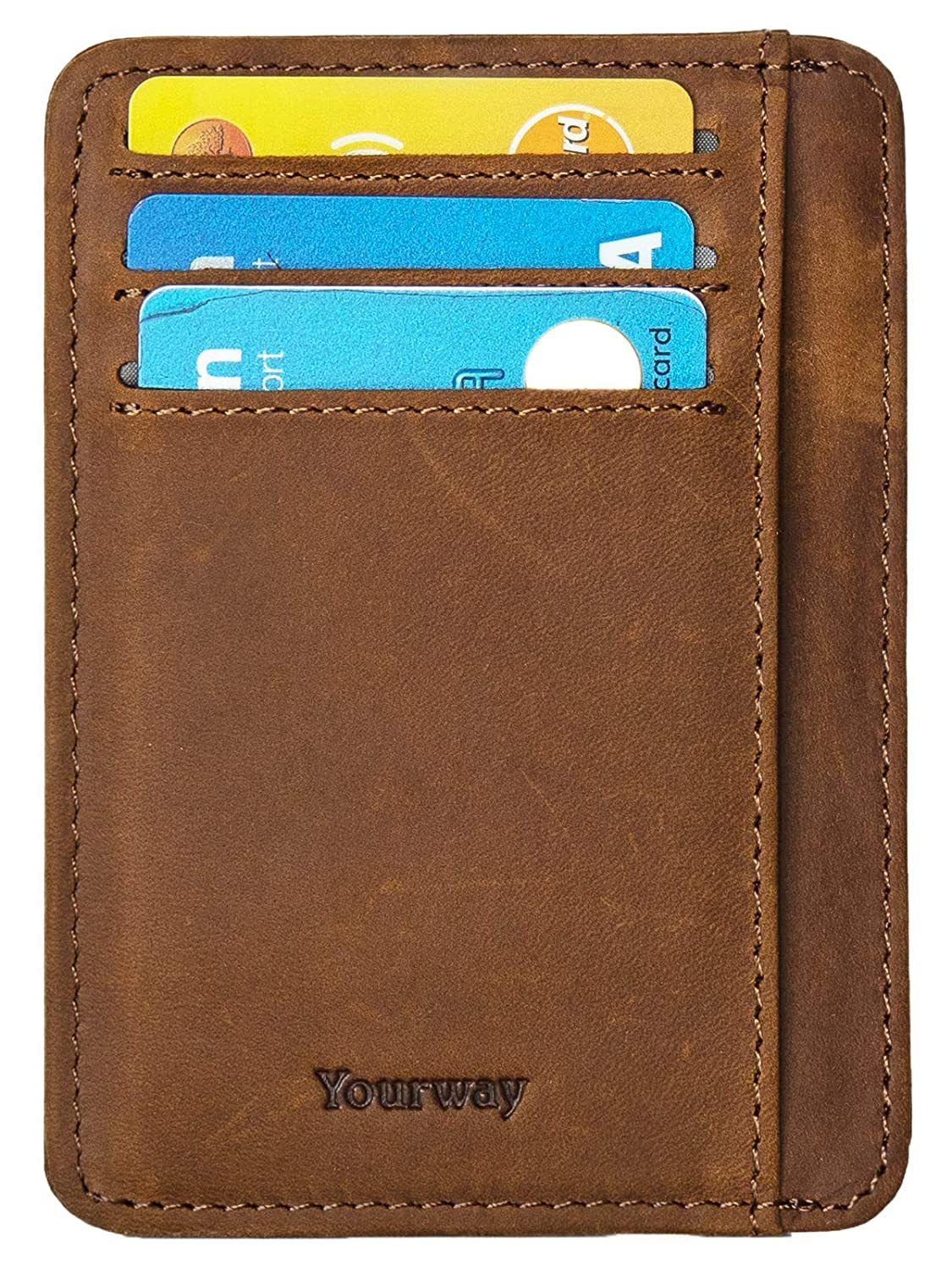 Yourway Sweden – Ultra Slim Mens Wallet with RFID Blocking | Credit Card Holder | Travel Wallet | Minimalist Mini Bifold Wallet for Men with Gift Box