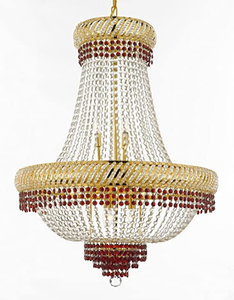 Moroccan style french empire crystal chandelier chandeliers lighting moroccan style french empire crystal chandelier chandeliers lighting trimmed with ruby red crystal good for aloadofball Choice Image