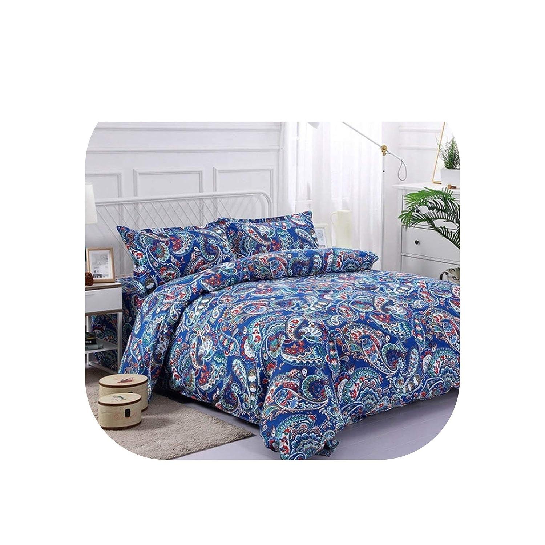 Bedding Set Twin Full Queen King Duvet Cover Pillowcase Bed Sheet Bedroom Decor Home Textile,Blue,Full