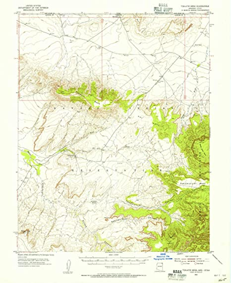 Amazon.com : YellowMaps Toh Atin Mesa AZ topo map, 1:62500 ...