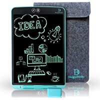 "DoogleBooks™ 12"" Partial Erasure LCD Writing Board - Portable LCD Tablet with 12 Inch Display - Electronic Writing Drawing Board - E-Writer for Kids - Includes 2 Styluses, Sleeve & Rubber"