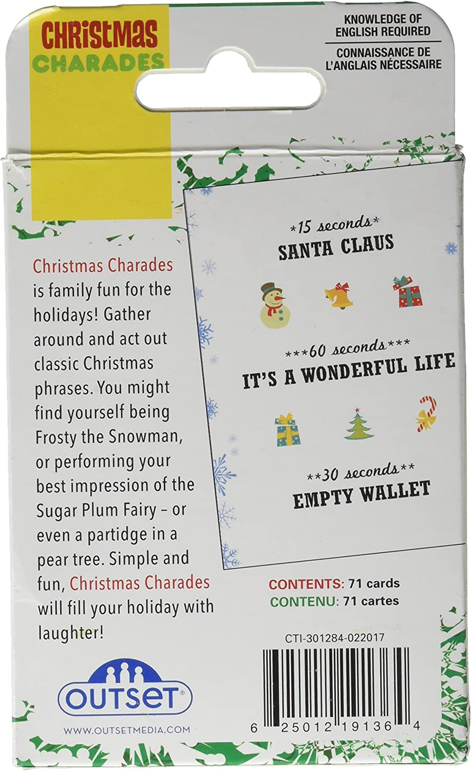 Amazon Com Cobble Hill Christmas Charades Card Game 1 Piece Toys Games