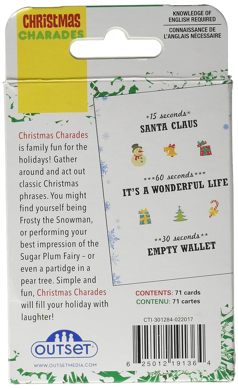 Christmas Charades.Amazon Com Cobble Hill Christmas Charades Card Game 1