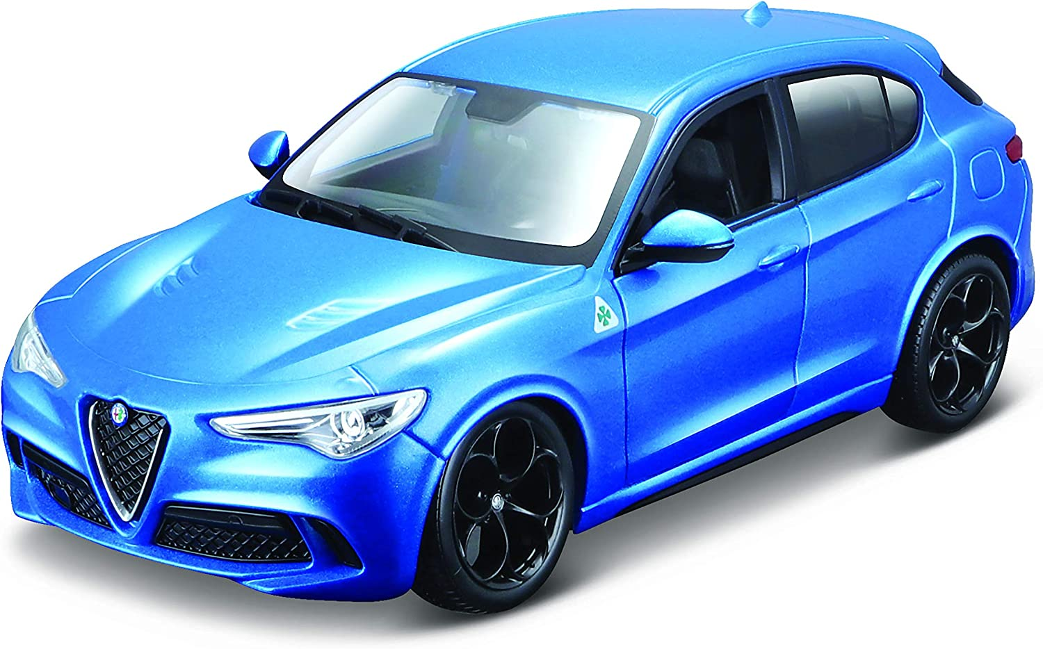 Alfa Romeo Stelvio Quadrifoglio Blue 1/24 Diecast Model Car by Bburago 21086