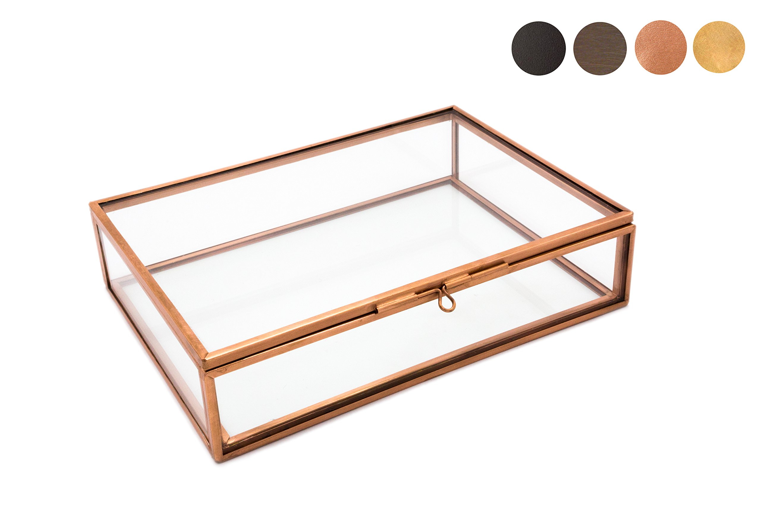 Photographer Boxes 4x6 Glass Photo Box, Proof Box, Shadow Box, Card Box, Jewelry Box, Rose Gold Glass Box