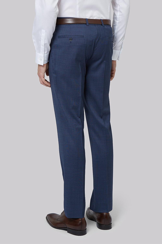 DKNY Slim Fit Blue Pinhead Trousers