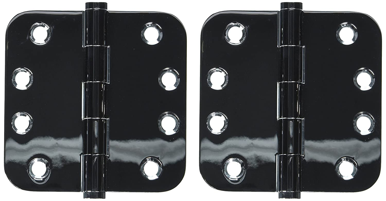 Home Improvement Deltana DSB4R526 Solid Brass 4-Inch x 4-Inch x 5//8-Inch Radius Hinge Top Notch Distributors Inc.