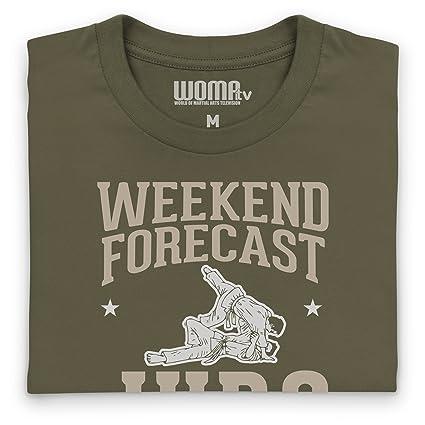 Weekend Forecast Judo Camiseta Funny Novelty Gift, Para hombre: Amazon.es: Ropa y accesorios
