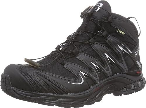 Salomon XA Pro Mid GTX - Zapatillas de Running de Material Sintético para Mujer Negro Schwarz (Black/Black/Asphalt) 39 1/3: Amazon.es: Zapatos y complementos