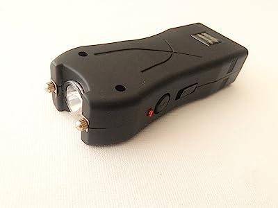 Canniks Mini Size Aegis Stun Gun High Power Rechargeable Lumen Bulb LED Flashlight