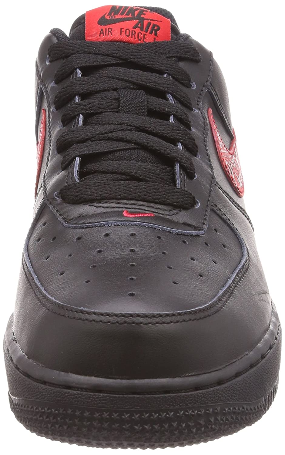 Nike Air Force 1 07 F rot Paisley Paisley Paisley Russian Floral schwarz University rot 3546a8