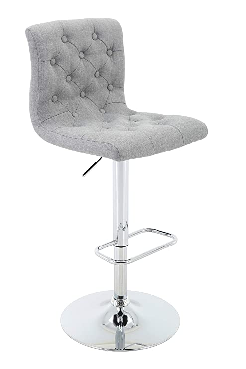 Astonishing Brage Living Adjustable Height Tufted Upholstered Barstool With Footrest Light Grey Gamerscity Chair Design For Home Gamerscityorg