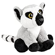 Wildlife Tree 5  Stuffed Ring-Tailed Lemur Baby Zoo Animal Plush Floppy Animal Kingdom Babies Collection