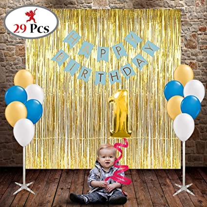 Party Propz Boys 1St Birthday Decoration 29Pcs For