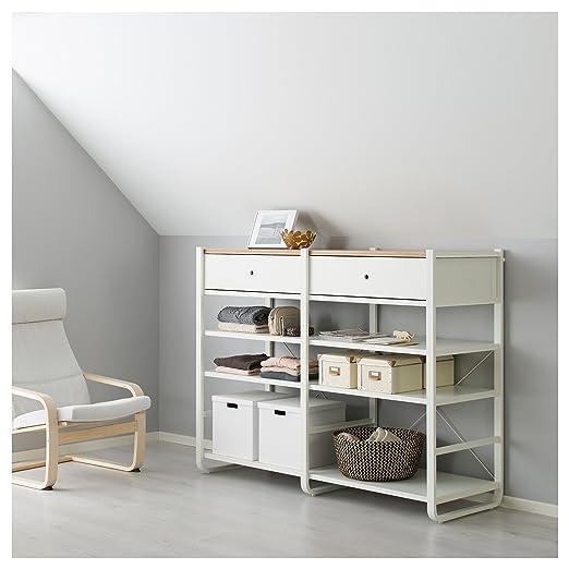 IKEA elvarli - 2 secciones blanco bambú: Amazon.es: Hogar