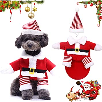 Santa Outfit for Dof Cat Birthday Dog Cat Christmas Outfit for Small to Large Dogs Suitable for Christmas WELLXUNK/® Dog Christmas Costume,Costumes pet Santa Claus Pet Christmas Clothes Party