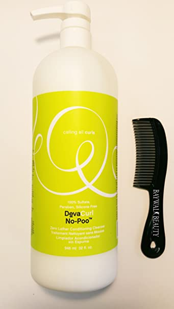 Amazon.com : Deva Curl No-Poo, Zero Lather Conditioning Cleanser - 32 Ounce with FREE shower comb : Beauty