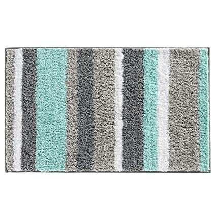 hebe non slip bathroom rug mat shag microfiber shower bath rug absorbent bath mat for - Bathroom Rugs Amazon
