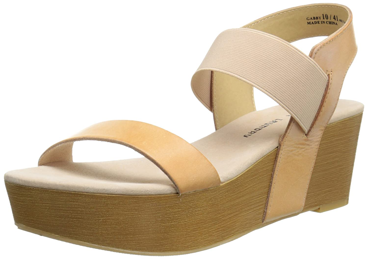 Chinese Laundry Women's Gabby Wedge Sandal B00NQEXZLI 9 B(M) US|Hazelnut Leather